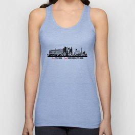 Las Vegas skyline black Unisex Tank Top