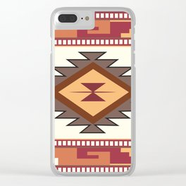 American Native Pattern No. 85 Clear iPhone Case