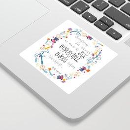 Alice in Wonderland - quote in wreath Sticker