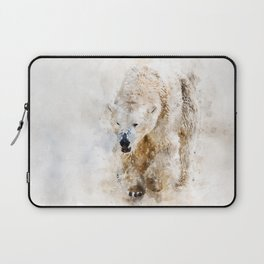 Abstract watercolor polar bear Laptop Sleeve