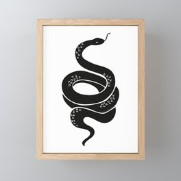 Slither Snake Tattoo Framed Mini Art Print