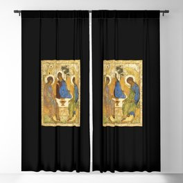 The Holy Trinity Painting Andrei Rublev Hospitality Of Abraham 1411 Blackout Curtain
