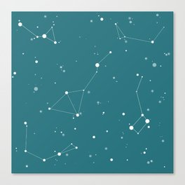 Emerald Night Sky Canvas Print