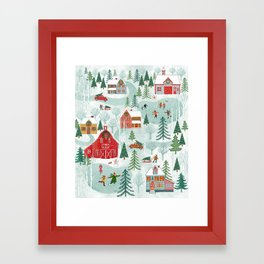 New England Christmas Framed Art Print
