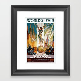 Vintage World's Fair Chicago IL 1933 Framed Art Print