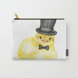 Top Hat Chick Watercolor Carry-All Pouch