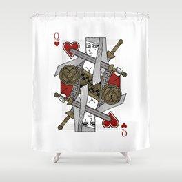 Omnia Illumina Queen of Hearts Shower Curtain