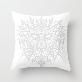 Heart of a Lion - Gray Throw Pillow