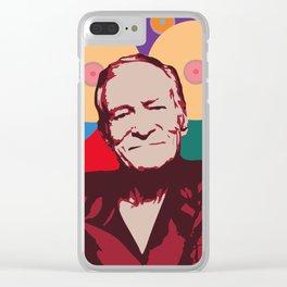 Rest in Boobs - Hugh Hefner Clear iPhone Case