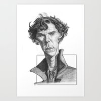 cumberbatch Art Prints featuring Sherlock/Cumberbatch by Sri Priyatham