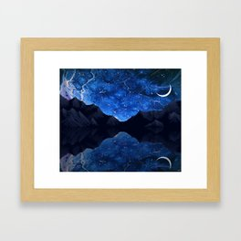 Moonlit Awakening Framed Art Print