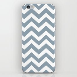 Cadet grey - grey color -  Zigzag Chevron Pattern iPhone Skin