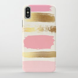 Brush Strokes (Rose/Gold) iPhone Case