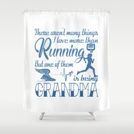 Running Grandma Shower Curtain