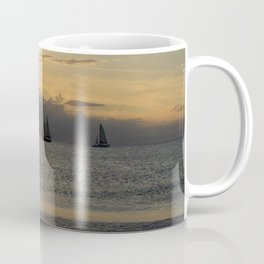 Racing to Beat the Ocean Storm Coffee Mug