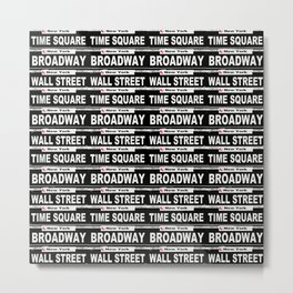 Street Sign Scenes of New York Metal Print
