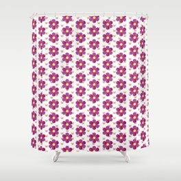 Rosa Blumen mit Schmetterlingen Blumenwiese Shower Curtain