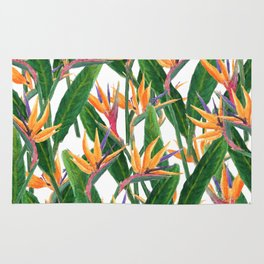 bird of paradise pattern Rug