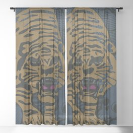 Golden Tiger Sheer Curtain