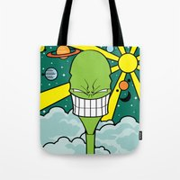 destiny Tote Bags featuring Destiny by TheGreen