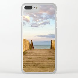 A la plage Clear iPhone Case