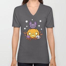 Pumpkin Cats Son // Black Unisex V-Neck
