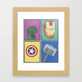 Los 4 Fantasticos Framed Art Print