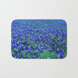 Field of Blue Bath Mat