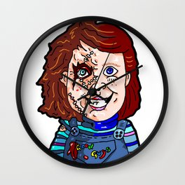 "Chucky wants to play!  The ""Good Guy"" From Child's Play... Wall Clock"