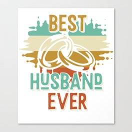 Best husband Married wedding rings Canvas Print