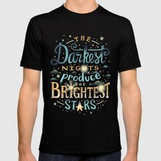 Brightest Stars X-LARGE Black Mens Fitted Tee