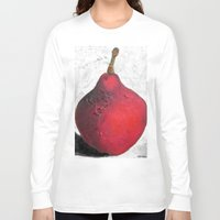 sansa stark Long Sleeve T-shirts featuring Stark Crimson by Suzy Kitman Fine Art