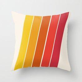 Cool Beans - 70's retro throwback art stripes motif decor hipster Throw Pillow
