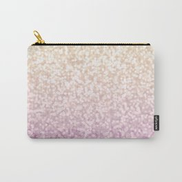 Champagne Gold and Pink Glitter Ombre Carry-All Pouch