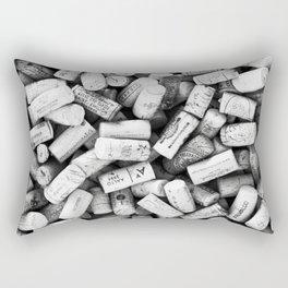 Something Nostalgic II Twist-off Wine Corks in Black And White #decor #society6 #buyart Rectangular Pillow