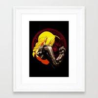 fullmetal alchemist Framed Art Prints featuring YELLOW HAIR ALCHEMIST by BradixArt