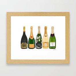 Champagne Bottles Framed Art Print