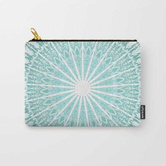 Mint Mandala Carry-All Pouch