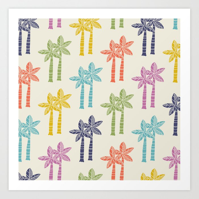Palm Tree Pattern 22 Art Print