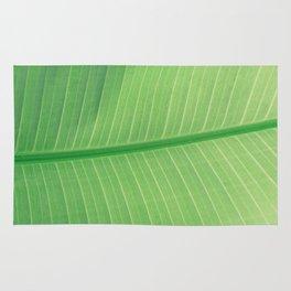 Green Plant Leaf Rug