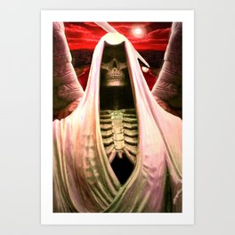 The Angel of Death. Art Print