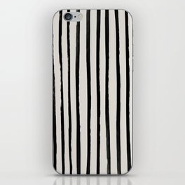 Vertical Black and White Watercolor Stripes iPhone Skin