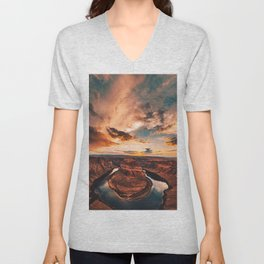 horse shoe bend canyon Unisex V-Neck