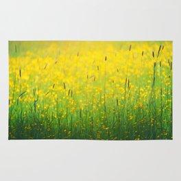 Field green yellow Rug