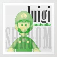 luigi Art Prints featuring Luigi by Thomas Official