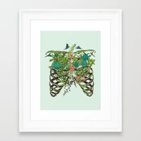 green Framed Art Prints featuring Daydreamer by Huebucket