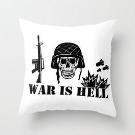 War Is Hell: Stop The War Throw Pillow
