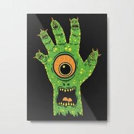 Finger Monsters Metal Print