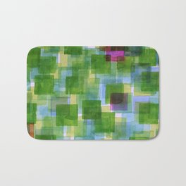 Pink and Orange Outposts Bath Mat