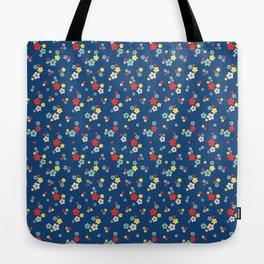 blossom ditsy in monaco blue Tote Bag